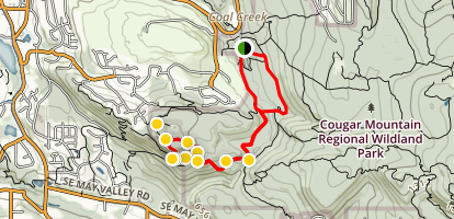 Red Town and Wildside to De Leo Wall Trail Map