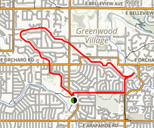 Highline Canal Trail and Centennial Link Trail Map