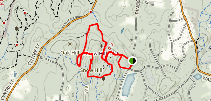 Snow Hill Fire Tower Map