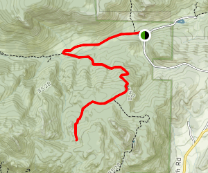 Balanced Rock via Cow Creek Trail Map