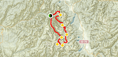 Sawtooth Wilderness Loop Map