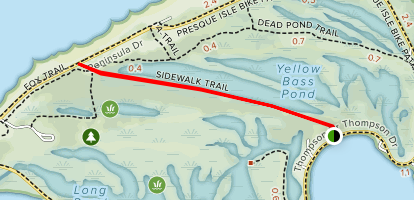 Sidewalk Trail to Lighthouse Map