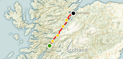 The Great Glen Way Map