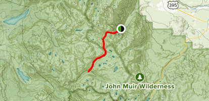 Pine Creek Trail to French Canyon Map