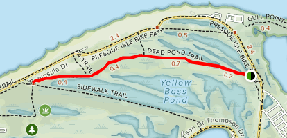 Dead Pond Trail Map