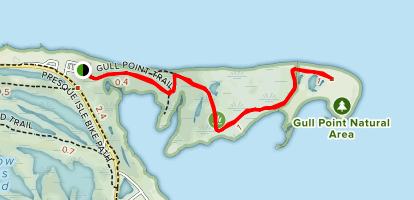 Gull Point Trail Map