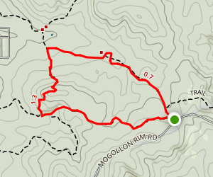 Porter Mountain Trails (Panorama and Timber Mesa Trails) Map