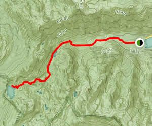 Twin Lakes to Peeler Lake Map