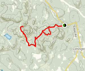 Sawyer Mountain and Hosac Mountain Loop Map
