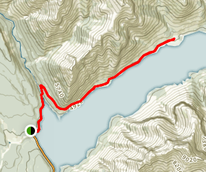 Lake Minnewanka Lakeside Trail Map