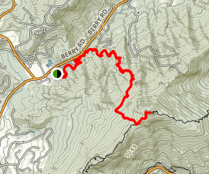 Profile Trail to Calloway Peak Map