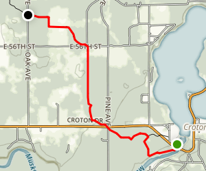 North Country Trail: Croton Dam to Oak Drive Map