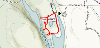 Post Falls Overlook Trail Map