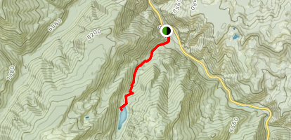 Lava Lake (Cascade Creek) Trail Map