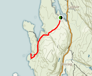 Coral Beaches via Coille Ghille Trail  Map