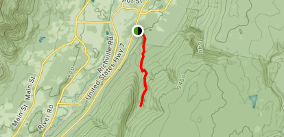 Lye Brook Falls Trail Map