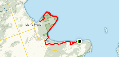 Bruce Peninsula: Hope Bay to Lions Head Map