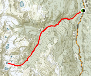 West Branch Trail to Island Lake/Carey Lake Map