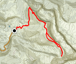 Fred's Mountain and Mary's Saddle Map