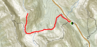 South Pocaterra Ridge Map
