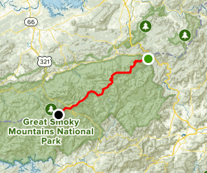 Appalachian Trail: Mount Cammerer to Clingmans Dome Map