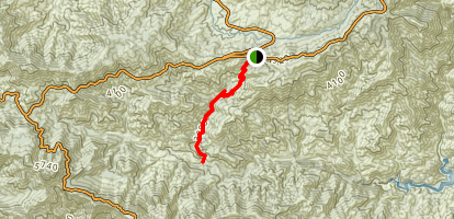 Shortcut Canyon Trail To West Fork Campground Map