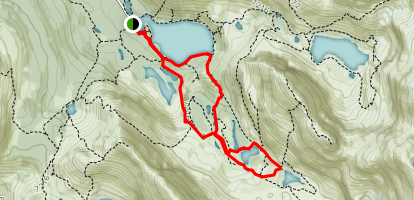 East and West Opabin Lake Loop Map