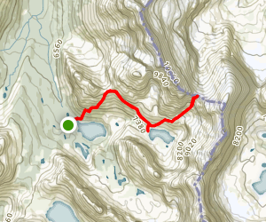 Abbott Pass Hut and Lake Oesa Map