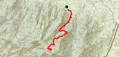 Six Shooter Canyon Trail Map