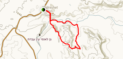 Ein Akav Loop Trail Map