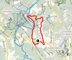 Medfield Charles River State Reservation Map