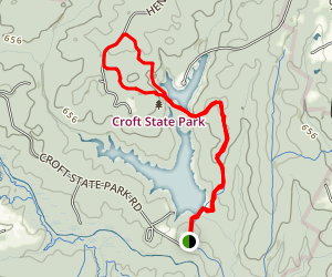 Foster Mill Loop Trail to Lake Johnson Loop Map