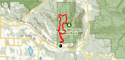 May Valley to Squak Mountain Road Loop  Map