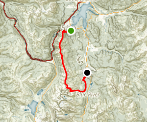 Ten Mile Peak to Peak (Tenmile Range Traverse) Map