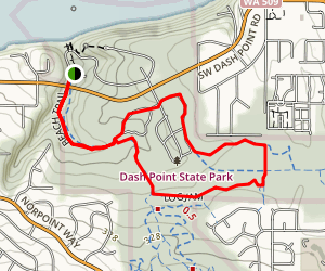Beach, Fern Alley and Outbound Loop Map