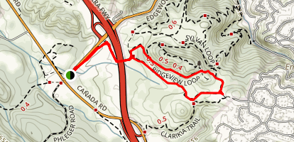 Ridgeview and Serpentine Loop Map