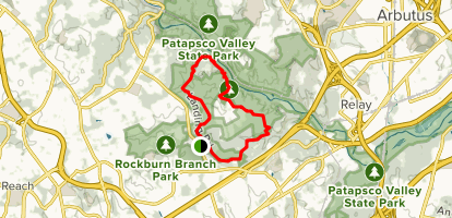 Rockburn Trail to Lewis and Clark Trail Loop Map