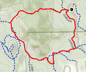 Cibola Pass and Jordan Trail Loop Map