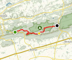 Appalachian Trail: Route 501 to Route 183 Map