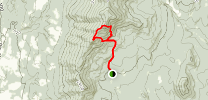 Mount Hunger and Whiterock Mountain Loop Map