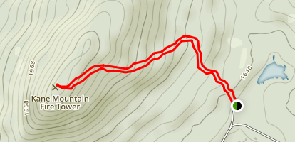 Kane Mountain Trail Map