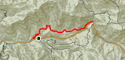 Pipeline Trail to Elbow Fork Map