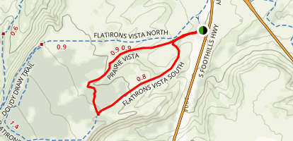 Prairie Vista and Flatirons Vista South Loop Map