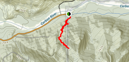 Boundary Trail: Carbon River Map