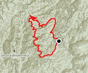 Jacks River and Penitentiary Branch Loop Trail Map