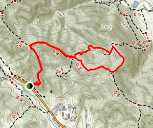 Calaveras and Del Amigo Trail Loop Map