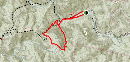 High Shoals Falls Loop Trail Map