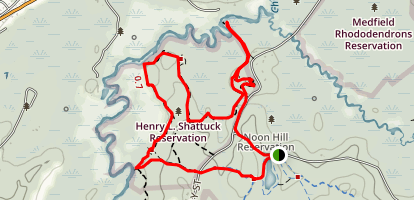 Henry L. Shattuck Reservation Map
