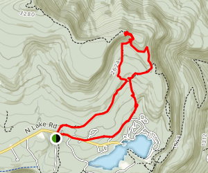North Point and Badman's Cave Loop Map