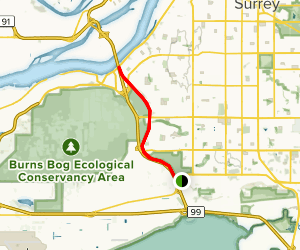 Watershed Park to River Road Map